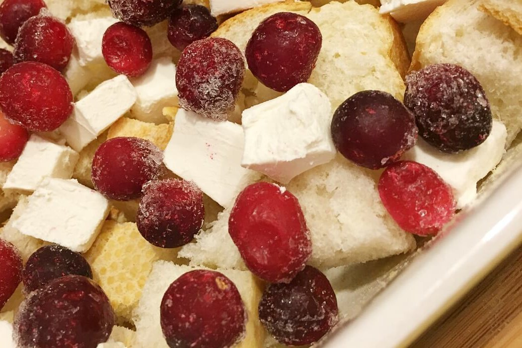 Overnight Cranberry Bliss French Toast Bake