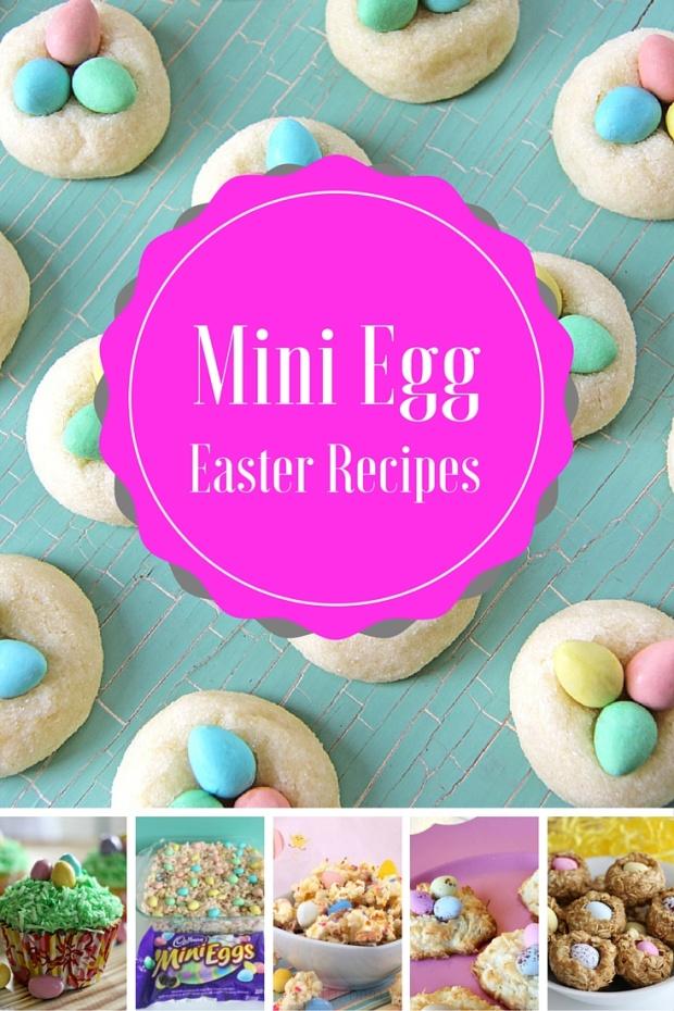 Collage of various Cadbury Min Egg recipes