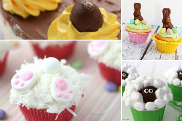 Collage of various Easter desserts