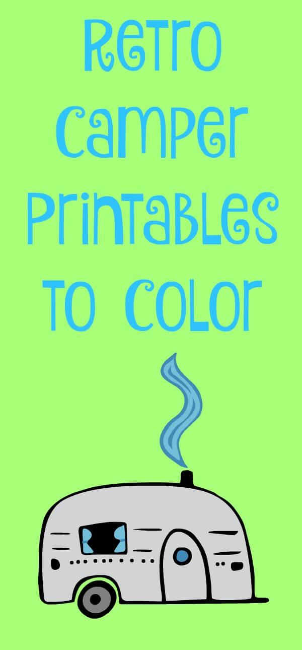 Retro Camper Printables to Color