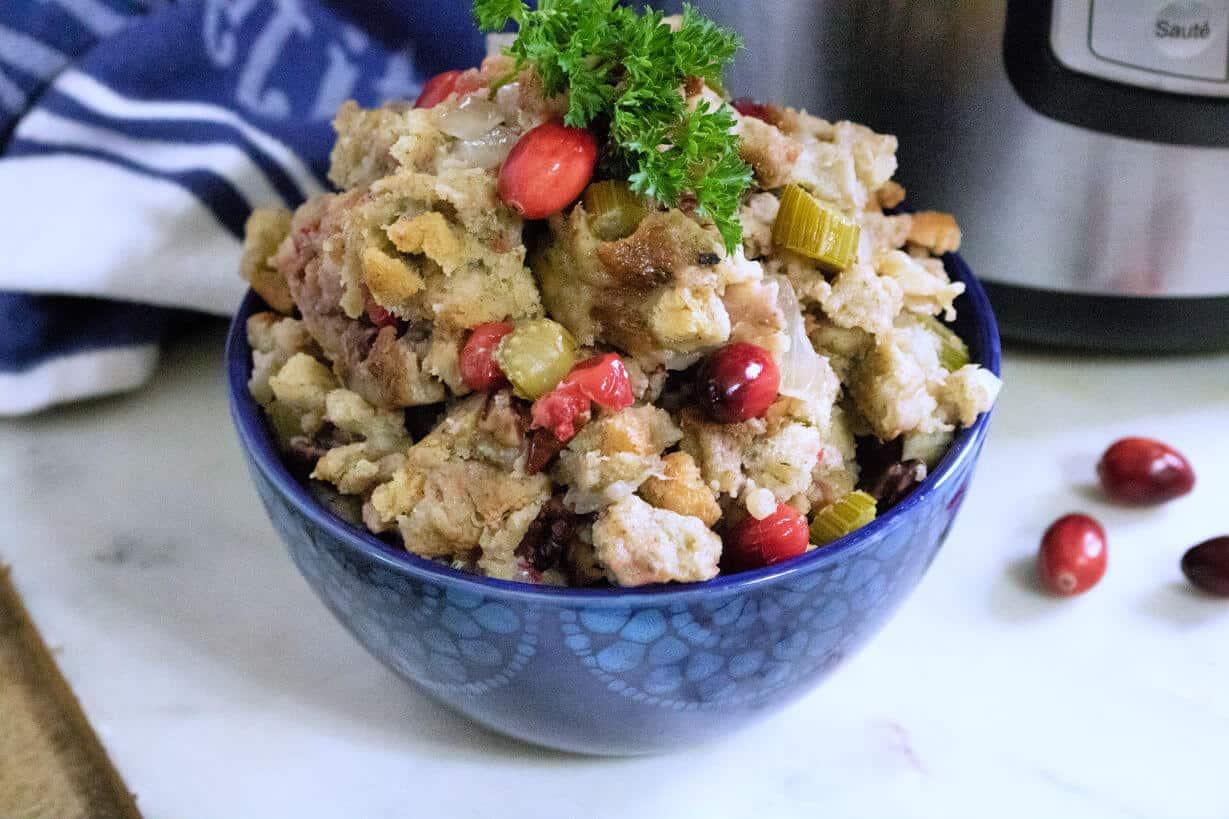 Cranberry Stuffing Instant Pot Recipe