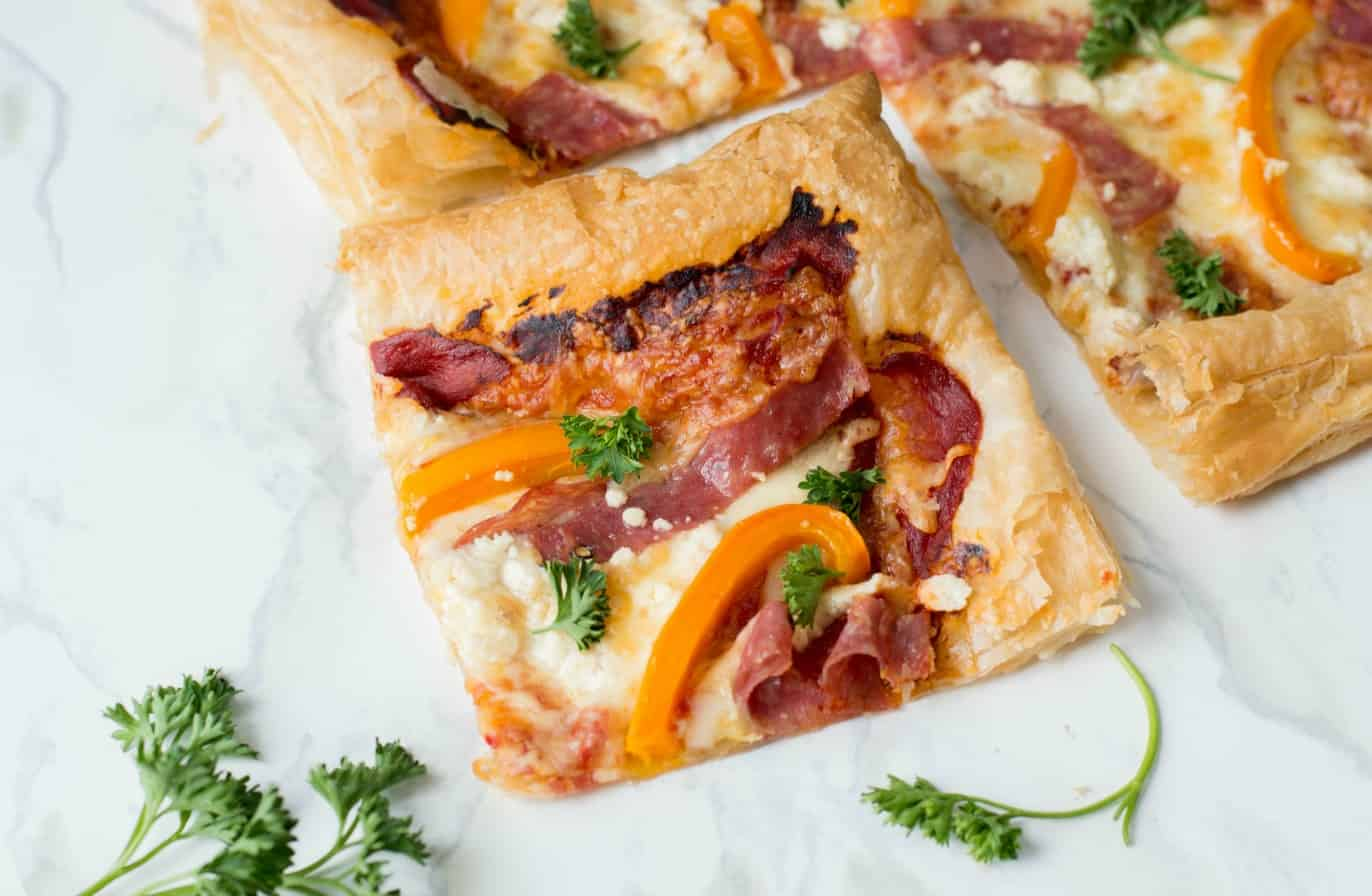 puff pastry pizza perfect for main dish or appetizer
