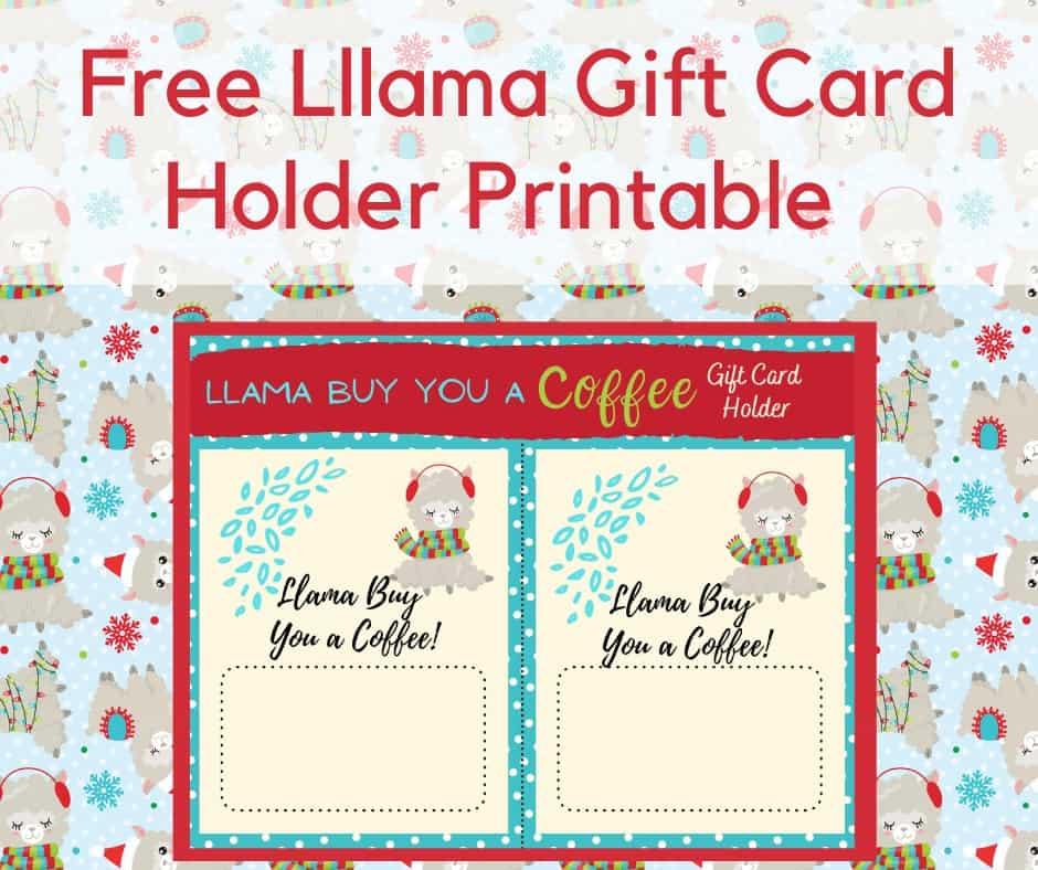 Llama Gift Card Holder Printable