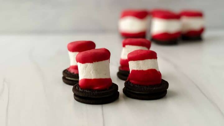 Dr. Seuss Hat Treats Made with Marshmallows